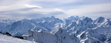 Panoramic view of Greater Caucasus from Elbrus