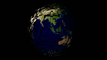 Globe Animation with fusion effect