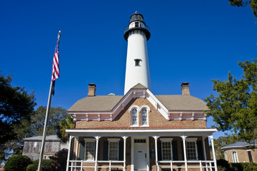 American Lighthouse and Brick House