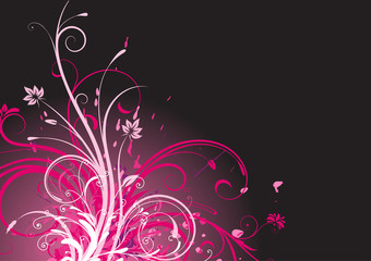 Vector illustration of funky Floral Background