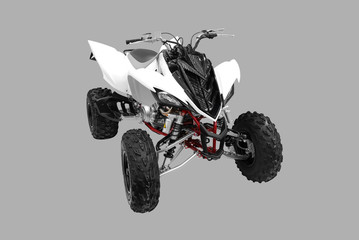 atv isolated on gray