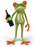 Fototapety Grenouille et vin rouge