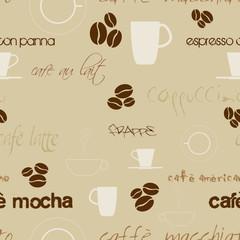 vector seamless coffee wallpaper...