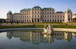 Vienna - Belvedere palace and fountain