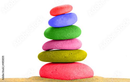Papiers peints Zen pierres a sable Galets peints