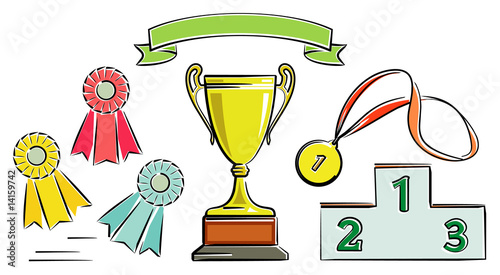 Awards illustration (Vector)