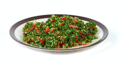 Tabbouleh and middle eastern food