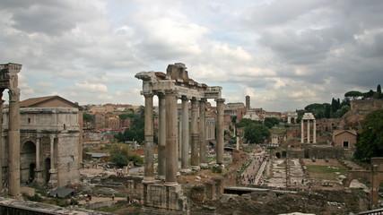 The Roman Forum. Time lapse.