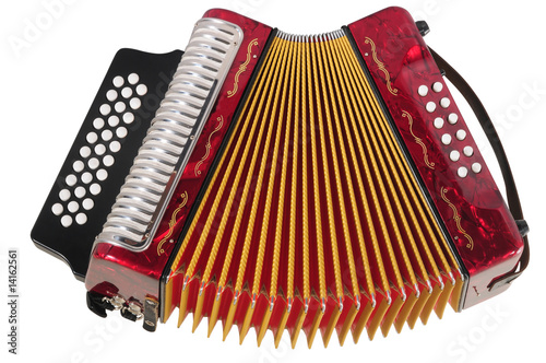 Accordion. Clipping path. - 14162561