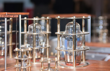 vacuum lamps on tube amplifier