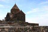 Church on little peninsula in Sevan poster