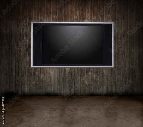 Wood room TV