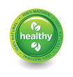 Vector Green Healthy Label