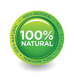 Vector Green 100% Natural Label