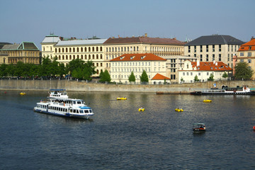 Panorama from the Charles Bridge in Prague