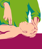 Adult performing cpr on infant poster