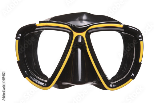 A diving mask isolated on a white background