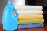 Detergent and towels. poster