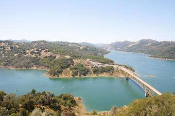 A Top View of Bridge At Sonoma Lake