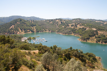 A View of Sonoma Lake From Top of Mountain