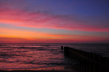 Sunrise on Cape Hatteras beach