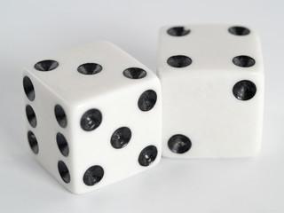 White Dice Black Colored Dots