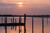tramonto sulla laguna poster