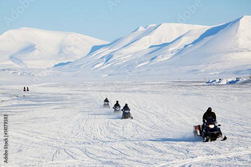 Foto op Aluminium Antarctica 2 Snowmobile Travel