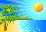 Fototapety Tropical island