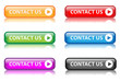 """Contact Us"" buttons (various colours with reflection)"