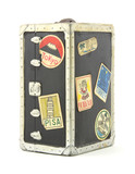 Old child's travel trunk bank
