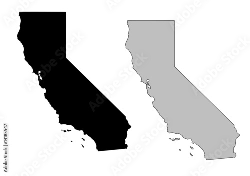 California vector map