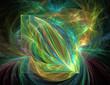 Colorful fractal sparkles