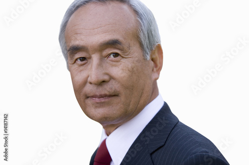 Portrait of businessman, close-up, cut out