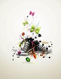 shoe vector composition