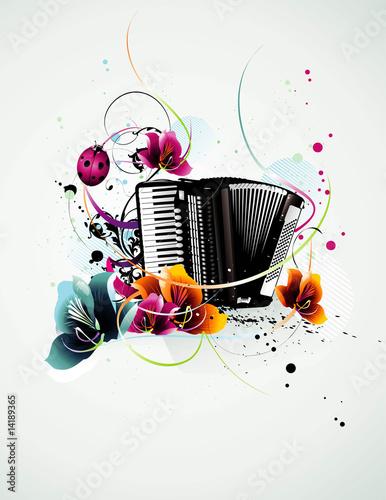 wektor akordeon
