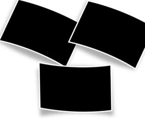 fond-cadres pour 3 photos à courbures différentes
