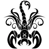 Scorpione Tatuaggio-Scorpio Tatoo-Tatouage Scorpion poster