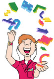 Man Juggling Icons poster