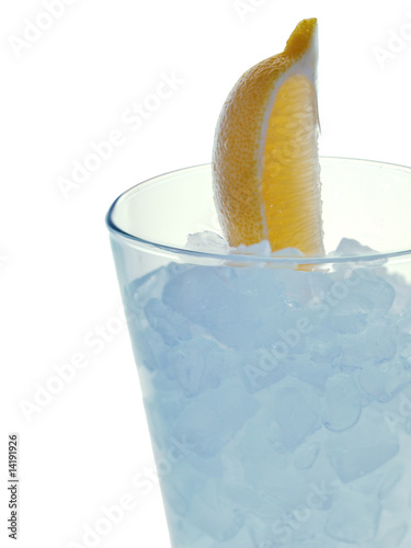 refreshing summer drink with crushed ice
