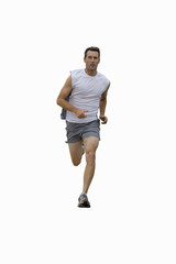 man running in sports clothes, cut out