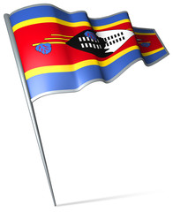 Flag pin - Swaziland