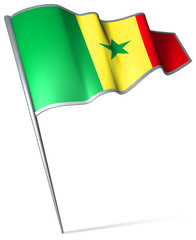 Flag pin - Senegal