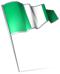 Flag pin - Nigeria