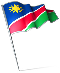 Flag pin - Namibia