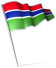 Flag pin - The Gambia