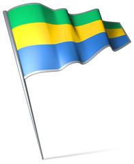 Flag pin - Gabon