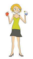 femme choix pomme glace