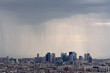 Storm over Paris city