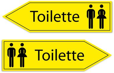 Schild Toilette
